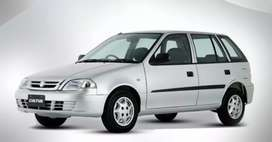 Suzuki Cultus available for booking and monthally basis