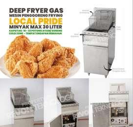deep fryer gas Stainless alat penggoreng ayam fried chicken Sragen