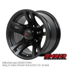 Quezo R15 H5 Smb - Velg Mobil Racing Hsr Wheel Import (free ongkir)