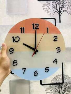 New design acrylic wall clock Material: acrylic  Size 12 inches
