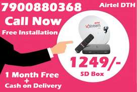 Brand New Airtel DTH Dishtv HD Tata Airteltv sky All over india @1249