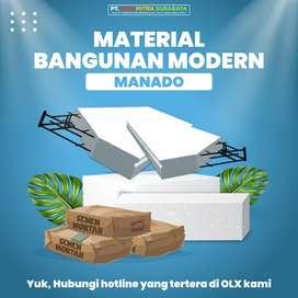 Bata Ringan Panel Lantai Semen Mortar | Manado