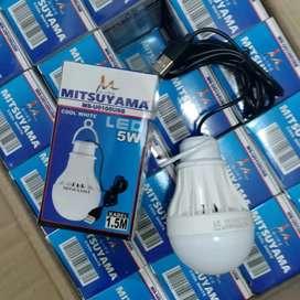 Lampu LED Bohlam USB Mitsuyama 5 watt, 8 watt, 10 watt, 15 watt
