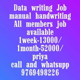 Data manual handwriting job