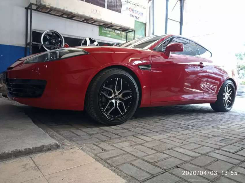 Hyundai coupe pakai velg hsr arosbaya ring 18 0