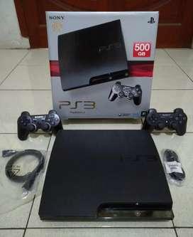PS3 SLIM 500GB Good bosku isi 50 permainan jaman now lkp 2 Stik