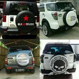 Cover Ban Serep Mobil Jeep Wrangler Rubicon Bisa DesainSediri Silakan