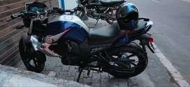 Yamaha bike Navy blue colour