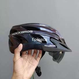 Helm Sepeda Rockbros TT-16 (Aurora Purple)