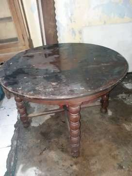 Meja makan Vanderpool kuno Antik