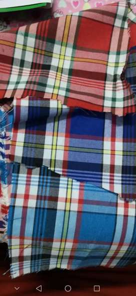 Imported Check shirting fabric for Winter