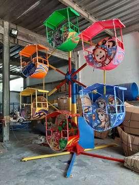 wahana Pasar malam kincir angin mini odong paket abirin run