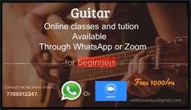 Guitar classes for beginners