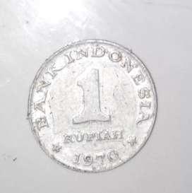 uang koin 1 (satu) rupiah tahun 1970 langka