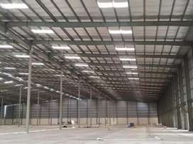 Warehouse- godown- industrial factory shed  available for lease