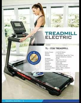 Treadmil  elektrik  Tl 126 treadmill  besar