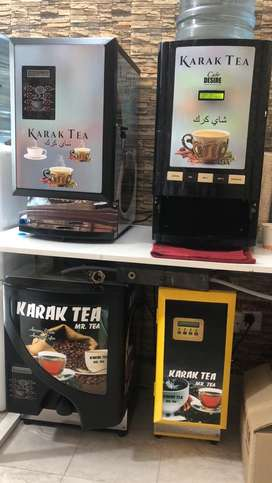 Vending machines for tea and coffee