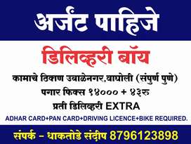 Hiring for delivery boy for pune location