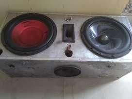 Gill doodike sound sistem 2 sab woofer 12inch 3 speaker 6inch