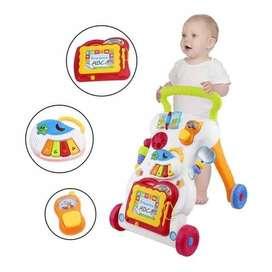 Baby Walker/Baby Push Walker/Alat bantu Bayi jalan disertai Music - Pu