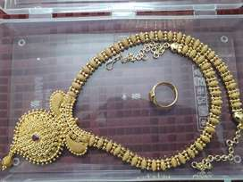 Rarely used 1gm gold long necklace for sale