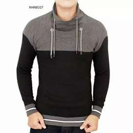 Sweater Pria Long Neck stripped