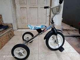 Sepeda anak roda 3 Stainles