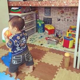 spon lantai  kamar anak matras ubin bermain child play area playground
