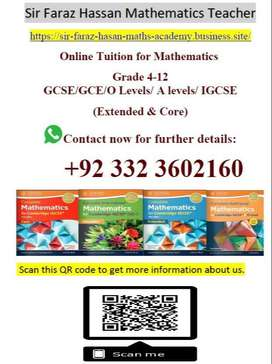 Online tuition Maths IGCSE/GCE O levels