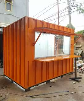 Booth container/container dagang/container usaha