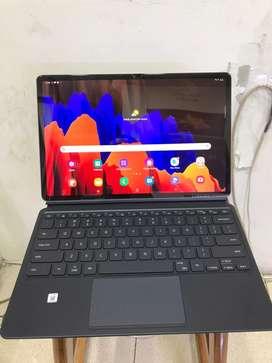 Samsung tab S7 plus like new termasuk keyboard