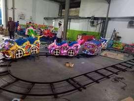 odong odong kereta panggung lantai mini coaster murah DCN rel datar