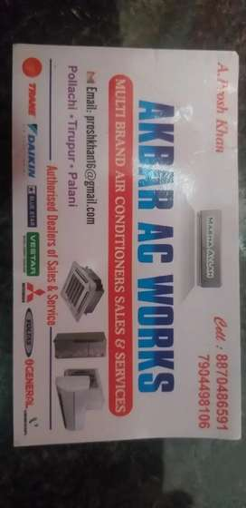 Akbar ac frig washing machin service