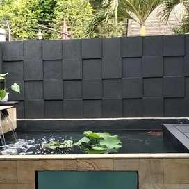 Kolam minimalis batu alam/jasa pembuatan kolam ikan koi