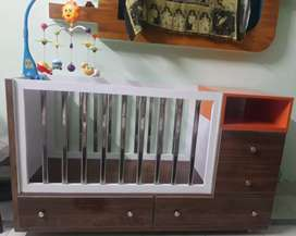Newly built wooden baby cot