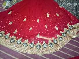 Lengha in red and gold color in new design