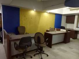 1150sqft, Fully furnished office with 2 cabin