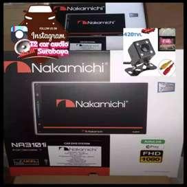 obral canggih NAKAMICHI JAPAN 2din android link led 7inc+camera hd