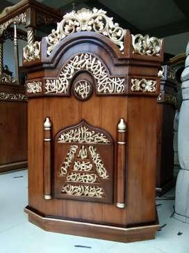 Mimbar indah asli podium furnitur9337