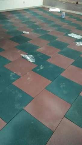 Gym rubber tiles, gym rubber flooring matt