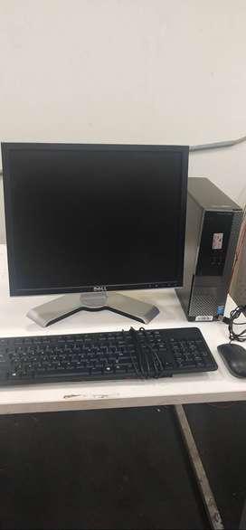 """DELL OPTIPLAX 3010 CORE I5 3RD GEN DESKTOP RAM 4GB HDD 320GB LCD 19"""""""