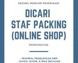 LOWONGAN KERJA Packing Online Shop Karyawan Karyawati Jalan di Cibadak
