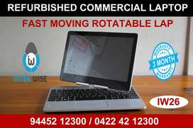WARRANTY - HP TOUCH SENSE & ROTATABLE - REFURBISHED COMMERCIAL LAPTOP
