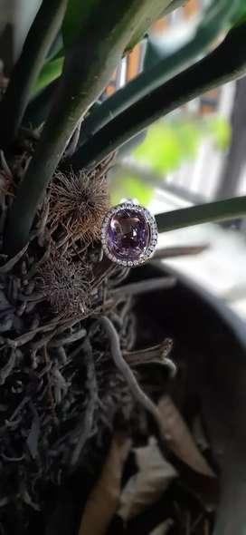 Kecubung Kalimantan (Borneo Amethyst) sepuh big size super kristal