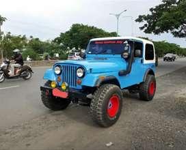 Jeep CJ7 diesel th 1984 doble gardan 4x4 aktif mulus pribadi