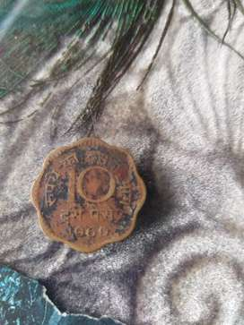 52 years old 10ps coin