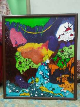 Abstract art on glass