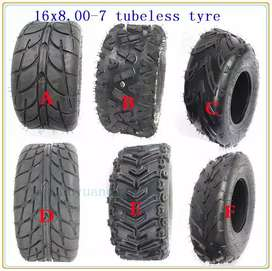 Atv bike tyres on road and off road tyres size 16/8/7