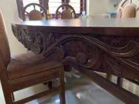 Teak wood Dining Table, 6 seater.