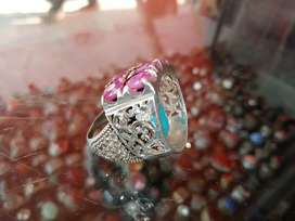 Real kabali yaqoot 6 stone in White gold ring granted